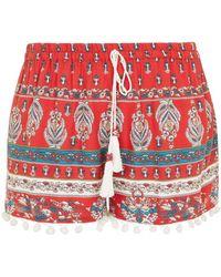 Band Of Gypsies - Pom Pom Trim Shorts By - Lyst