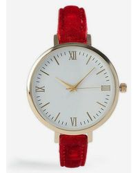 TOPSHOP - velvet Watch - Lyst