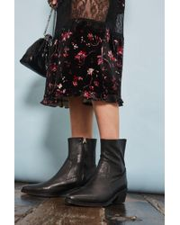 TOPSHOP | Augusto Western Sock Boots | Lyst