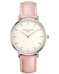 ROSEFIELD - B-w-pr-b7 The Bowery Stainless Steel Leather Strap Watch - Lyst