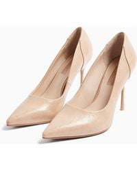 TOPSHOP Wide Fit Georgia Court Shoes - Natural