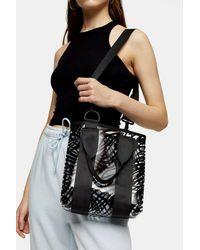 TOPSHOP Tpu Zebra Grab Bag - Black