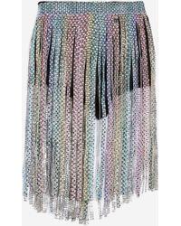 Jaded London - Rainbow Diamante Belt Detail Shorts By - Lyst