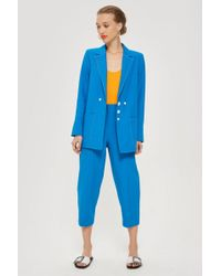 TOPSHOP - Contrast Stitch Suit Trousers - Lyst