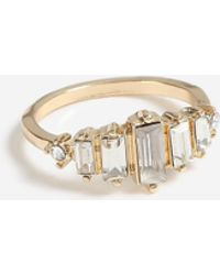 TOPSHOP - Baguette Stone Ring - Lyst