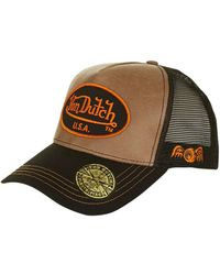 TOPSHOP - Usa Leather Cap By Von Dutch - Lyst