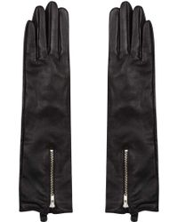 TOPSHOP - Long Leather Gloves - Lyst