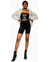 TOPSHOP - Joni Cycling Shorts With Zip Back - Lyst