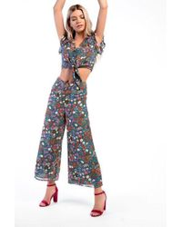 Glamorous - floral Trousers By - Lyst
