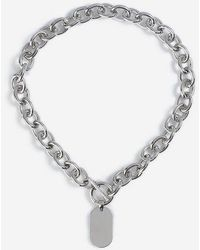 TOPSHOP - chunky Chain Tag Necklace - Lyst