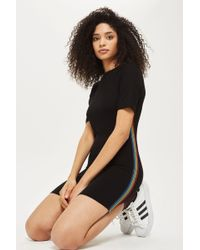 TOPSHOP - Petite Rainbow Striped Bodycon Dress - Lyst
