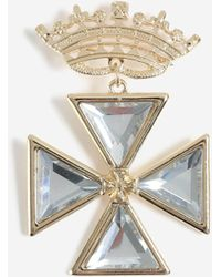 TOPSHOP - crown Gem Brooch - Lyst