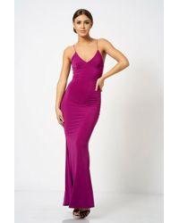 Club L - Strappy Plunge Maxi Dress By - Lyst