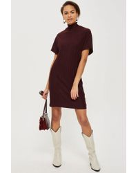 TOPSHOP - Plisse Shift Dress By Native Youth - Lyst