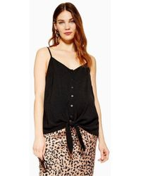 ee90a84749775 TOPSHOP Maternity Strappy Cami Top in Blue - Lyst