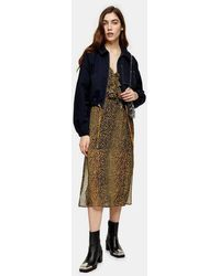 TOPSHOP - Considered Navy Organic Cotton Jacket - Lyst