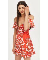 TOPSHOP - Poppy Ruffle Mini Dress - Lyst