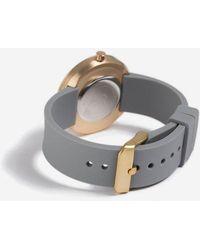 TOPSHOP - geometric Grey Silicone Strap Watch - Lyst
