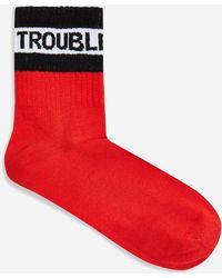 TOPSHOP - Trouble Maker Socks - Lyst