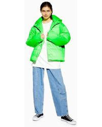 TOPSHOP - Nylon Padded Puffer Jacket By Boutique - Lyst
