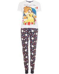 Disney - Beauty And Beast Pyjama Set - Lyst