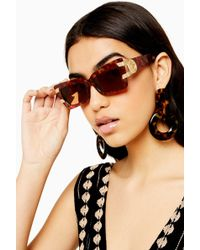 TOPSHOP Koko Feline Sunglasses - Multicolor