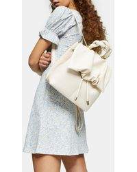 TOPSHOP Ruched Flap Backpack - Multicolor