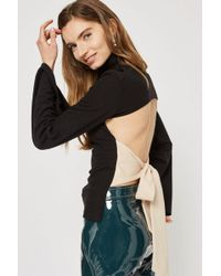TOPSHOP - Open Back Knitted Top By Style Mafia - Lyst