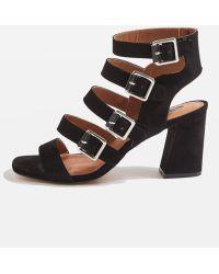 TOPSHOP - Natasha Multi Buckle Heels - Lyst