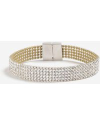 TOPSHOP - Rhinestone Crystal Bracelet - Lyst
