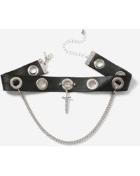 TOPSHOP - pu Chain Choker - Lyst
