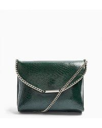 TOPSHOP Courtchain Clutch Bag - Green