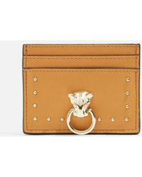 TOPSHOP - Panther Oyster Card Holder - Lyst