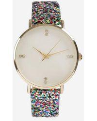 TOPSHOP - glitter Strap Watch - Lyst
