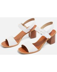 TOPSHOP - Nancy Two Part Sandals - Lyst