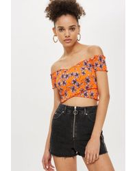 TOPSHOP - Side Stripe Mom Shorts - Lyst
