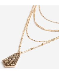 TOPSHOP - Charmed Layered Necklace - Lyst