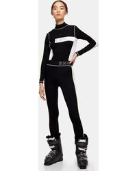 TOPSHOP black Jersey Ski Leggings By Sno