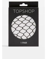 TOPSHOP Super Size Fishnets - Black