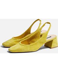 6d7f89a38cf TOPSHOP Nina Fluro Jelly Sandals Yellow - Lyst