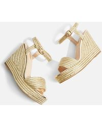 TOPSHOP - Wild Rope Wedge Sandals - Lyst
