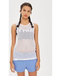 Ivy Park - Mesh Loose Tank By - Lyst
