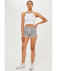TOPSHOP - Rainbow Embroidered Runners Shorts - Lyst