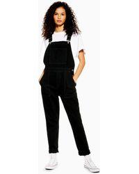 TOPSHOP Salopette noire en jean