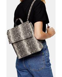 TOPSHOP Blaze Gray Snake Backpack