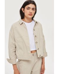 TOPSHOP - Awkward Cropped Jacket By Native Youth - Lyst