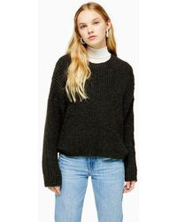 TOPSHOP - Knitted Crew Neck Sweater - Lyst