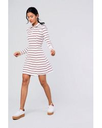 Glamorous - striped Ring Pull Dress By - Lyst