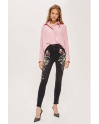 TOPSHOP - Moto Limited Edition Sequin Jeans - Lyst