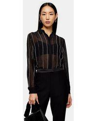 TOPSHOP - Embellished Shirt - Lyst